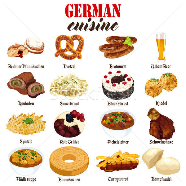 German Food Cuisine Illustration Stock photo © artisticco