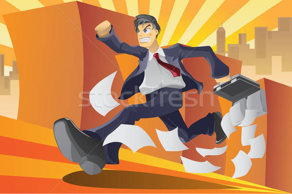 Businessman in a hurry Stock photo © artisticco