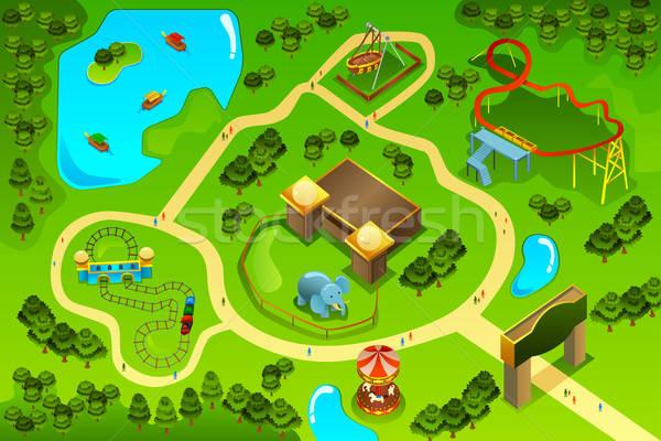 Map  of an amusement theme park  Stock photo © artisticco