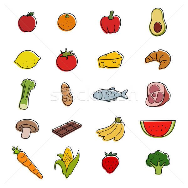Food Icons Stock photo © artisticco