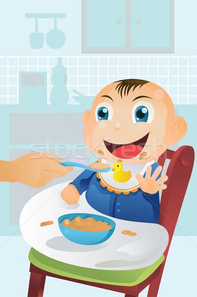 Feeding baby time Stock photo © artisticco