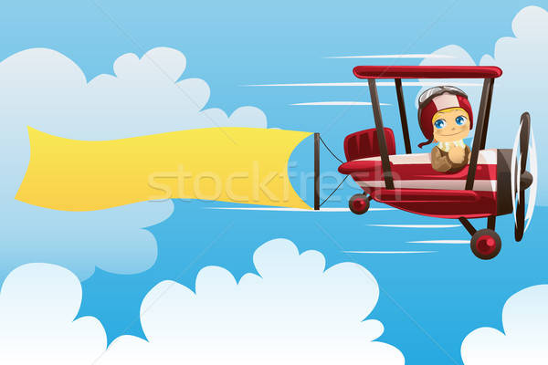 Airplane carrying banner Stock photo © artisticco