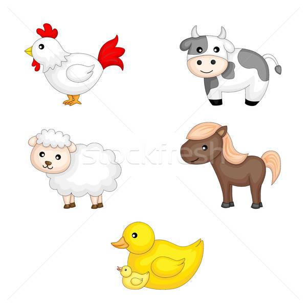 家畜 グラフィック 羊 カモ 漫画 かわいい ストックフォト © artisticco