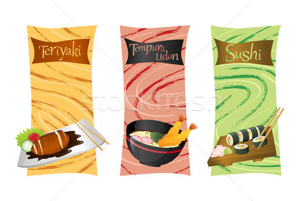 Asian food menu Stock photo © artisticco