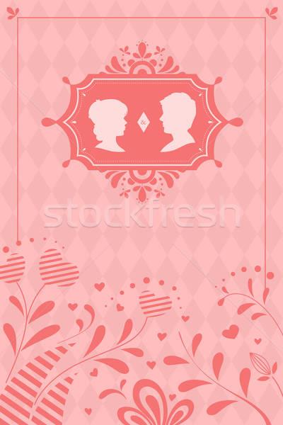 Hochzeitseinladung Design Hochzeit Liebe Mann Karte Stock foto © artisticco