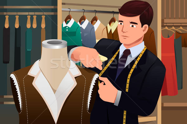 Tailor adjusting clothes on a mannequin  Stock photo © artisticco