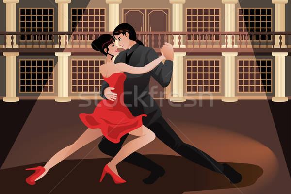 Pareja baile tango nina hombre Foto stock © artisticco