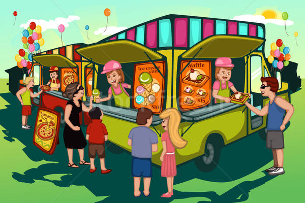 Food truck festival Stock photo © artisticco