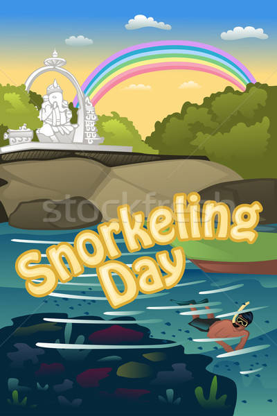 Snorkeling poster Stock photo © artisticco