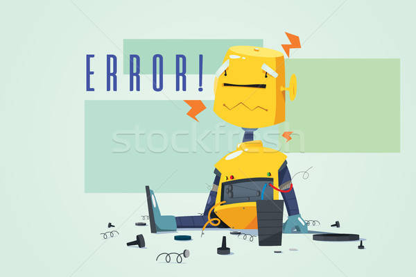 Broken Robot Showing Error Concept Illustration Stock photo © artisticco