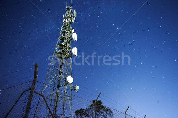 Rádió torony Queensland éjszaka csillagok alföld Stock fotó © artistrobd