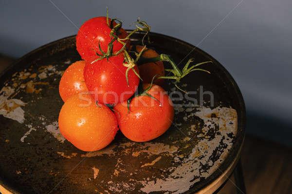 Red ripe fresh tomatoes  Stock photo © artistrobd