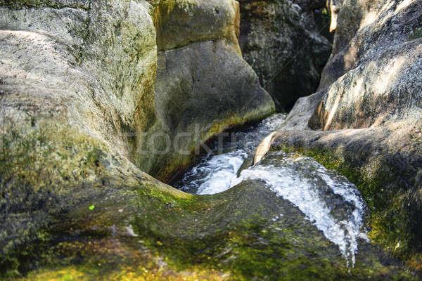 Cascata queensland Australia foglia viaggio splash Foto d'archivio © artistrobd