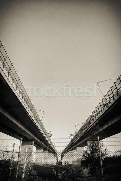 Brug bruggen zonsondergang brisbane queensland Stockfoto © artistrobd