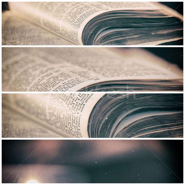 Библии свечей низкий свет высокий контраст Сток-фото © artistrobd