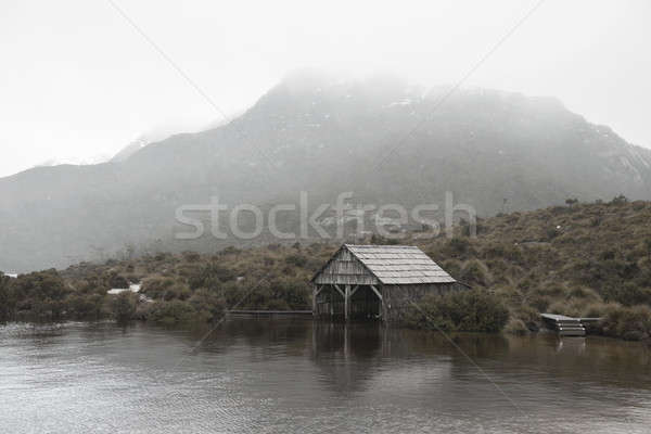 Boat shed in Dove Lake, Tasmania Stock photo © artistrobd