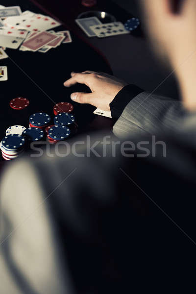 Emotional high stakes poker player Stock photo © artistrobd