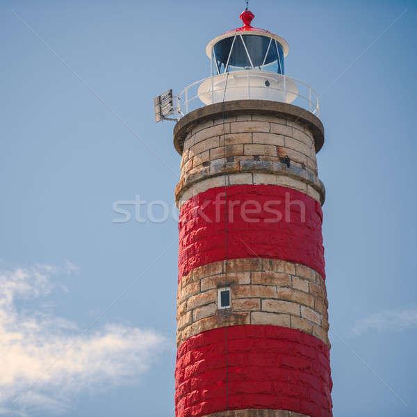 Latarni na północ wyspa dzień budynku ocean Zdjęcia stock © artistrobd