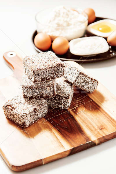 Group of Lamingtons Stock photo © artistrobd