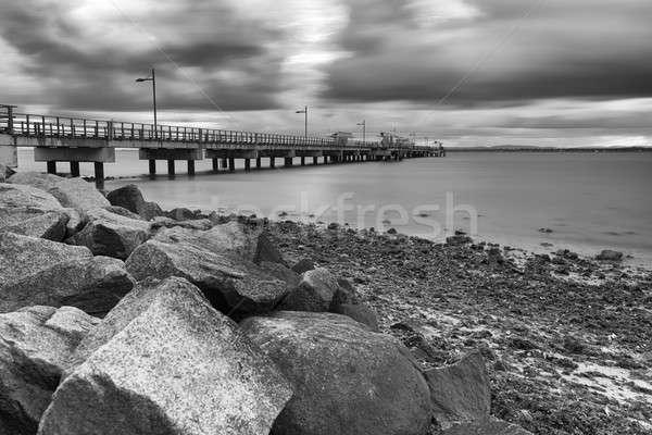 Woody Point Jetty. Black and White. Stock photo © artistrobd