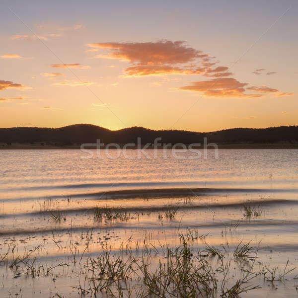 Meer queensland laat namiddag wolken groene Stockfoto © artistrobd