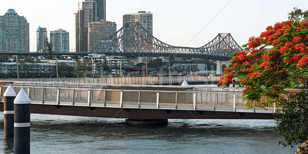 история моста Брисбен iconic после полудня Квинсленд Сток-фото © artistrobd
