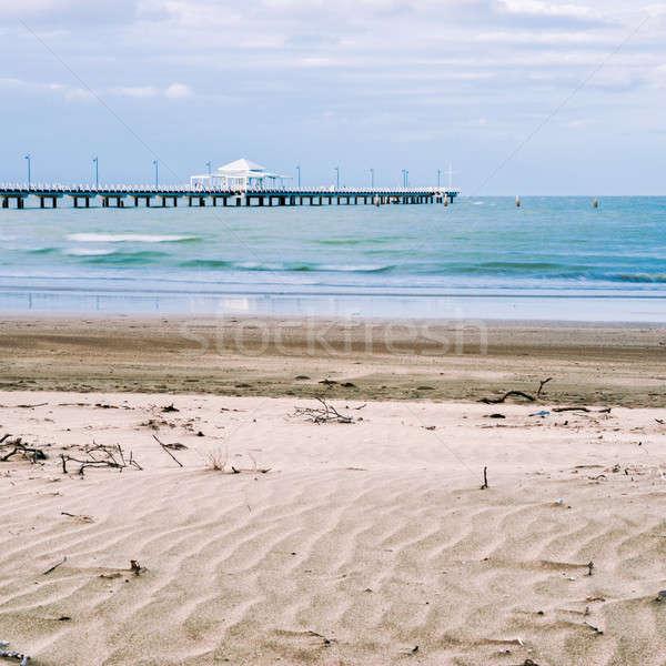 Muelle tarde tarde queensland Australia agua Foto stock © artistrobd