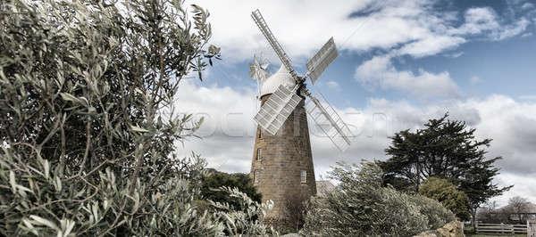 Moulin tasmanie Australie historique incroyable Photo stock © artistrobd