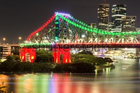 Verhaal brug nieuwe jaren 2016 brisbane Stockfoto © artistrobd