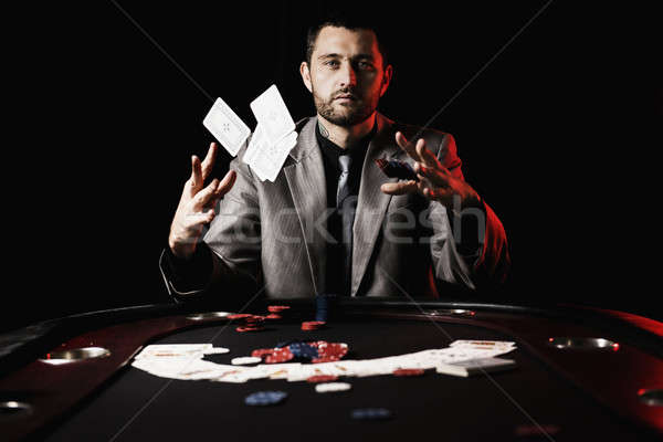 Emotional high stakes poker player Stock photo © artistrobd