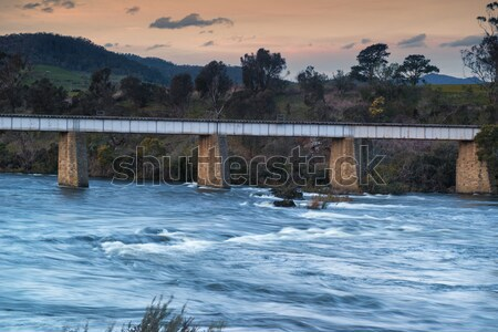 Country bridge and river in Tasmania Stock photo © artistrobd