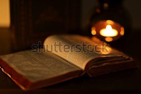 聖書 ゴースト イースター イエス キャンドル ストックフォト © artistrobd