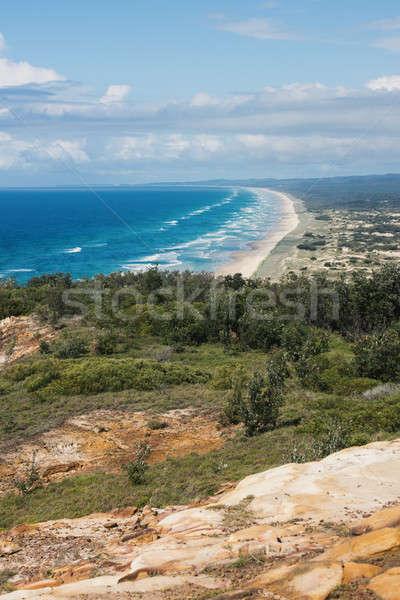 Pristine beach on Moreton Island. Stock photo © artistrobd