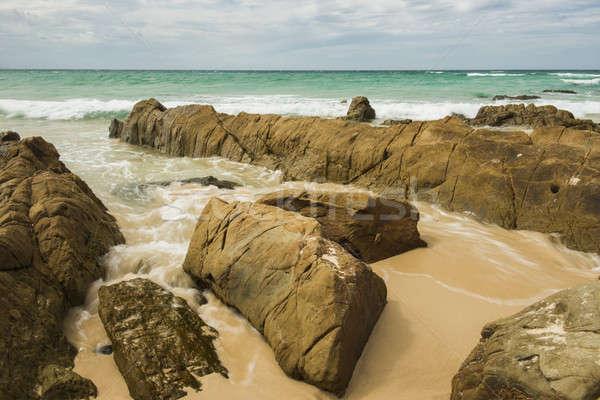 Ondas praia rocha Foto stock © artistrobd