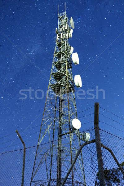 радио башни Квинсленд ночь звезды Сток-фото © artistrobd