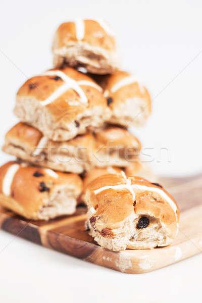 Stock photo: Hot Cross Buns