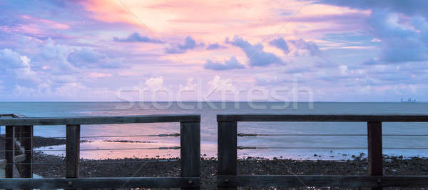 Woody Point Jetty at sunset Stock photo © artistrobd