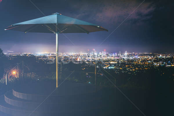 мнение Брисбен город ночь Квинсленд Австралия Сток-фото © artistrobd