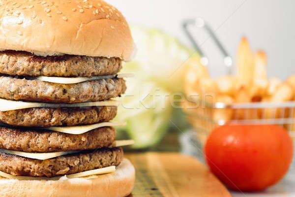 Mega Cheese Burger Stock photo © artistrobd
