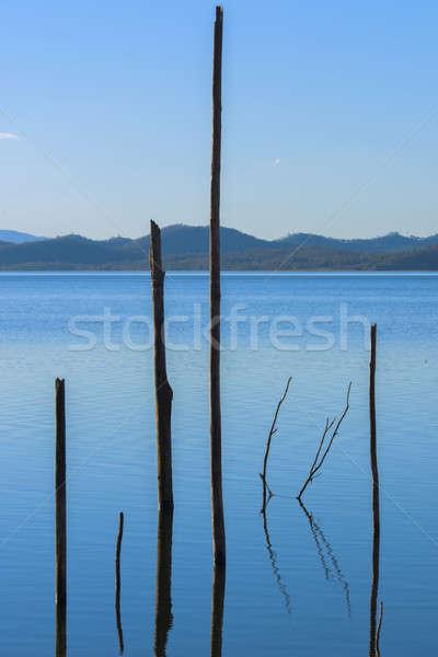 Jezioro queensland dzień osobno chmury lata Zdjęcia stock © artistrobd
