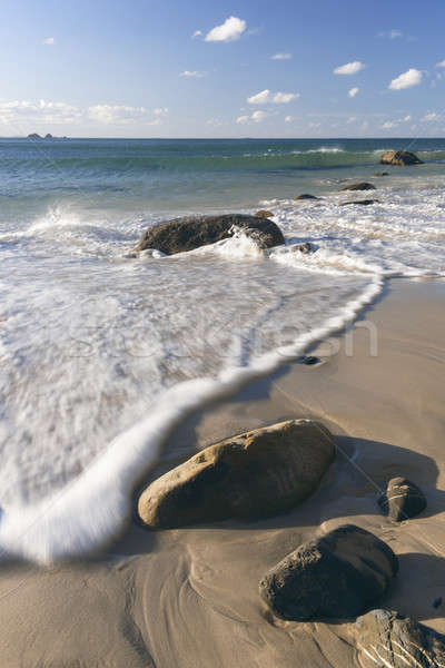 Strand new south wales laat namiddag water natuur Stockfoto © artistrobd