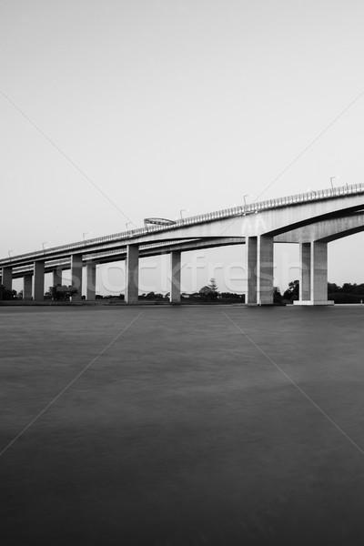 моста автострада Брисбен черно белые мостами Сток-фото © artistrobd