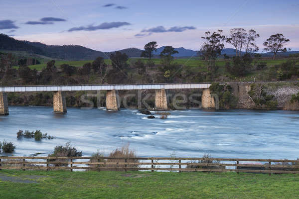 Country bridge and river in Tasmania Stock photo © artistrobd