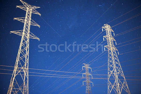 High voltage power tower Stock photo © artistrobd