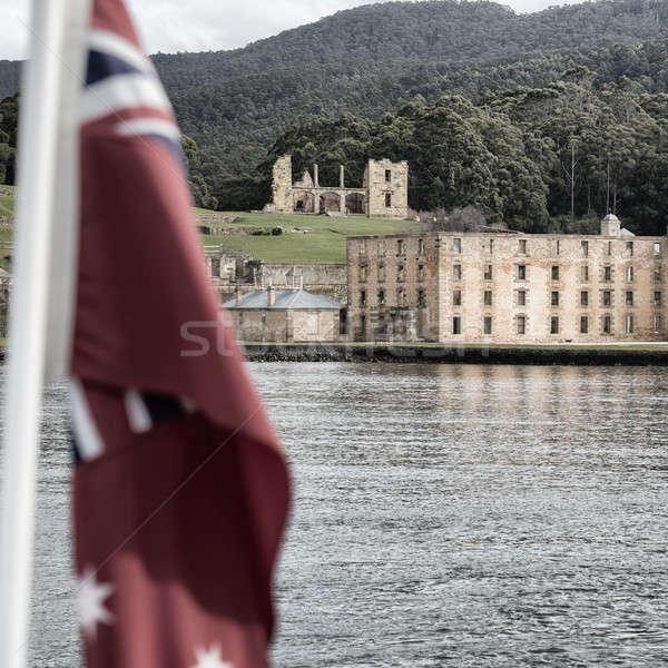 порта здании Тасмания Австралия старые Сток-фото © artistrobd