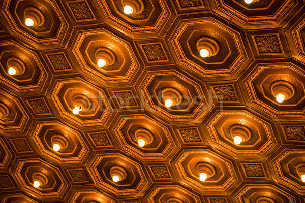 Antique ceiling with lights Stock photo © artistrobd