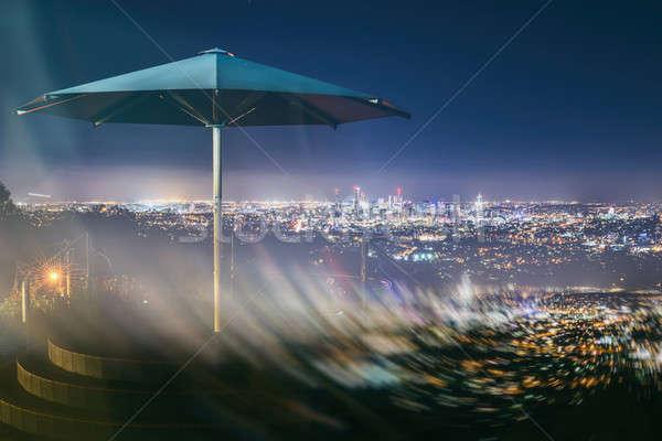 Brisbane stad nacht queensland Australië Stockfoto © artistrobd