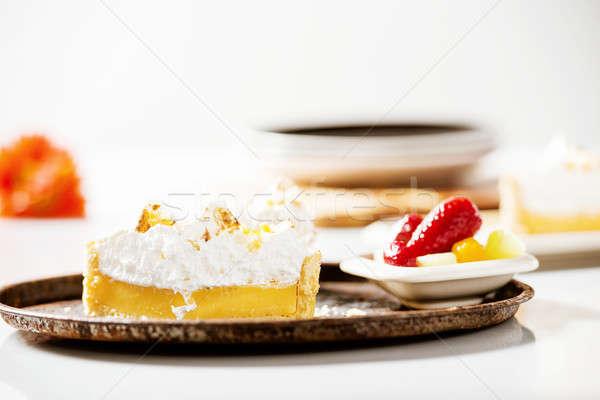 Lemon Meringue Pie Stock photo © artistrobd