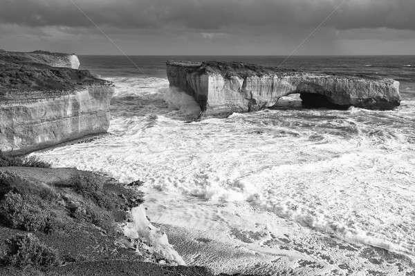 Vue london bridge blanc noir magnifique océan Photo stock © artistrobd
