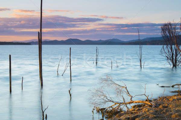 Queensland dag meer wolken zomer Stockfoto © artistrobd